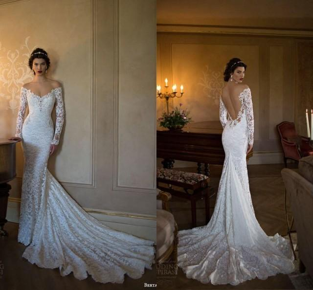Berta bridal 2015 v neck mermaid wedding dresses beach for Where to buy berta wedding dresses
