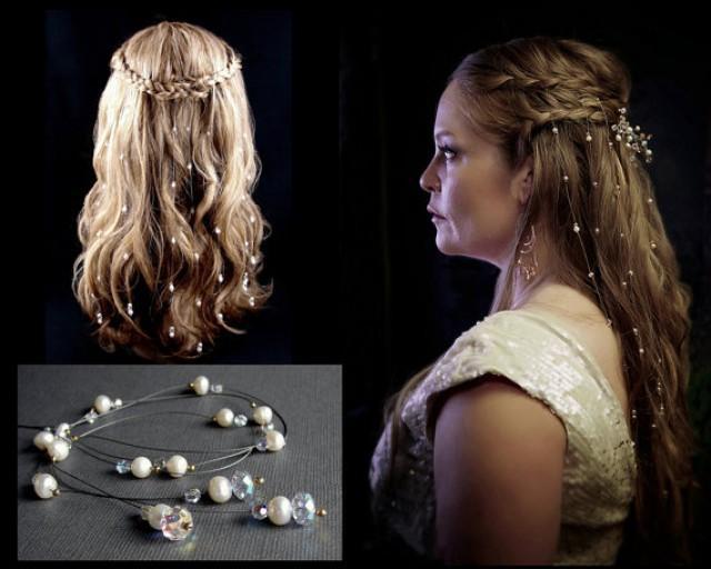 9 Extra Sparkly Swarovski Crystal Hair Extensions Bohemian Vines
