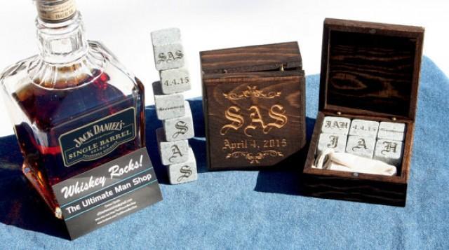 Gifts Made Of Stone : Set of bespoke groomsmen gift sets engraved whiskey