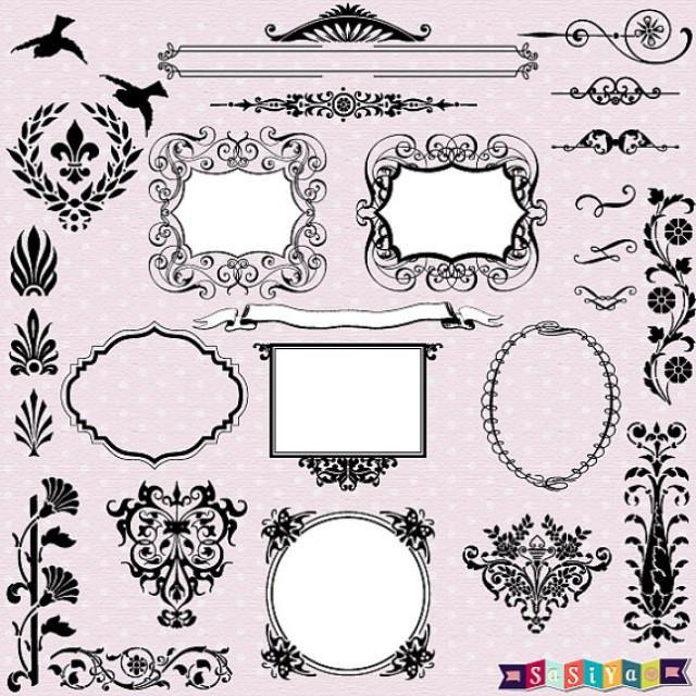 New Design Vintage Ornament Frame Decor Design Elements Wedding