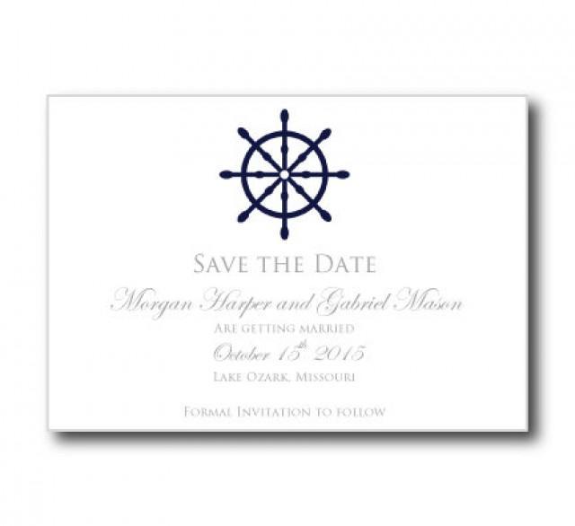 nautical save the date card template nautical wheel printable save