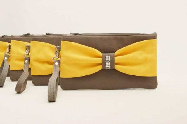 Grey clutch bag wedding
