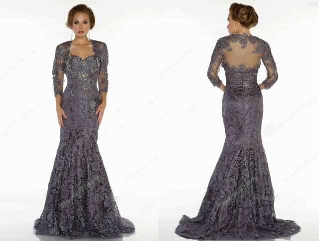 2013 Mother Of The Bride Dresses Bateau 3 4 Long Sleeves