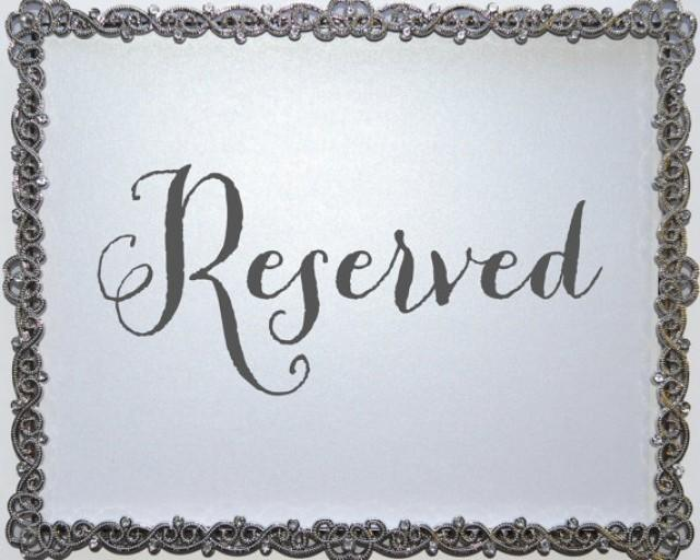 designer fashion super popular cheap sale Reserved Seating Sign, Wedding Signage For Wedding Reception ...