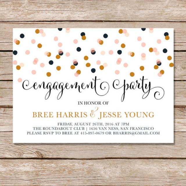 Modern Engagement Party Invitation Engagement Party Invite