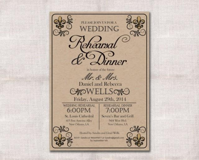 Who Do You Invite To Wedding Rehearsal Dinner: Wedding Rehearsal Dinner Invitation Custom Printable 5x7