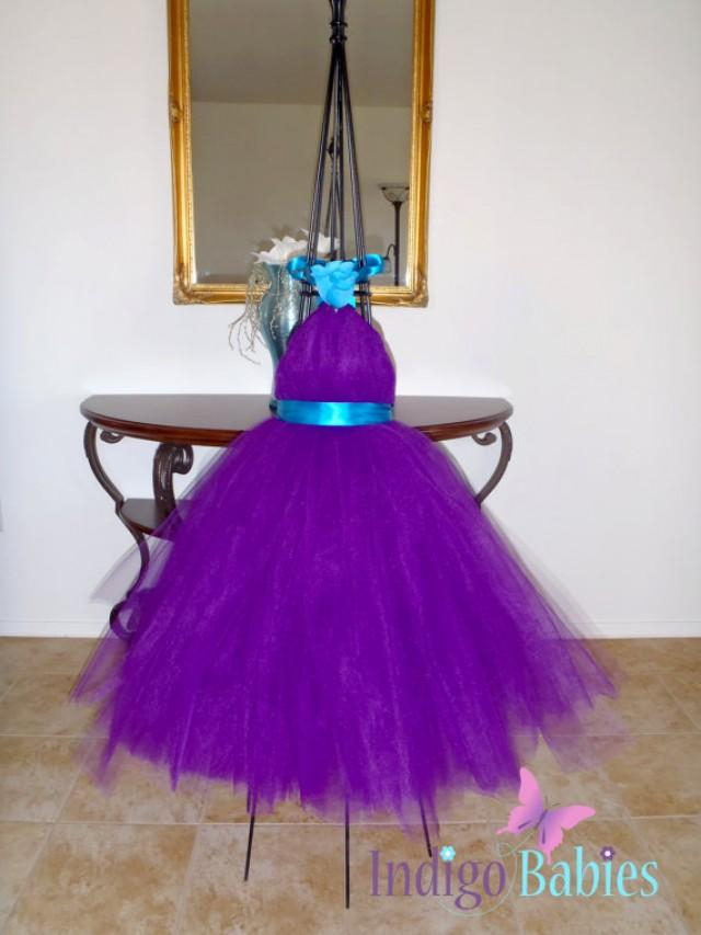 Plum and Turquoise Wedding Dress