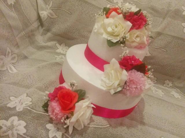 Silk Flower Cake Topper Wedding Cake Decorations Floral Wedding