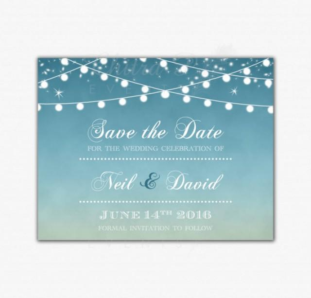 Golden Save The Date For Wedding Invitation Wedding: Printed Or Printable, Wedding