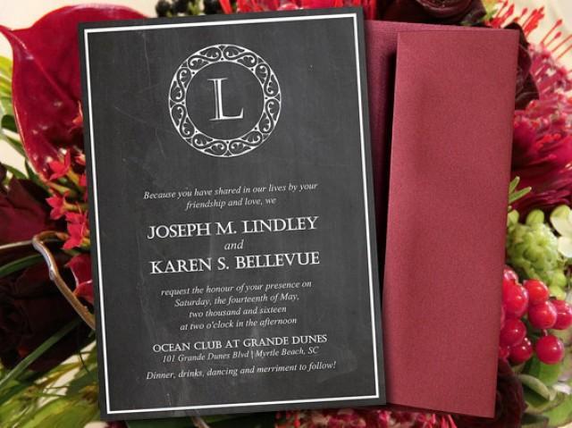 Chalkboard Wedding Invitations: DIY Wedding Invitation Template
