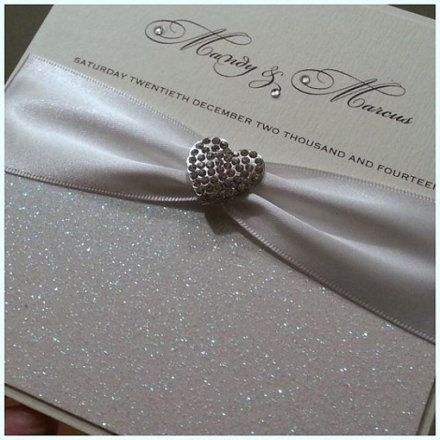 Handmade Luxury Glitter Wedding Invitation The Glitzy Crystal