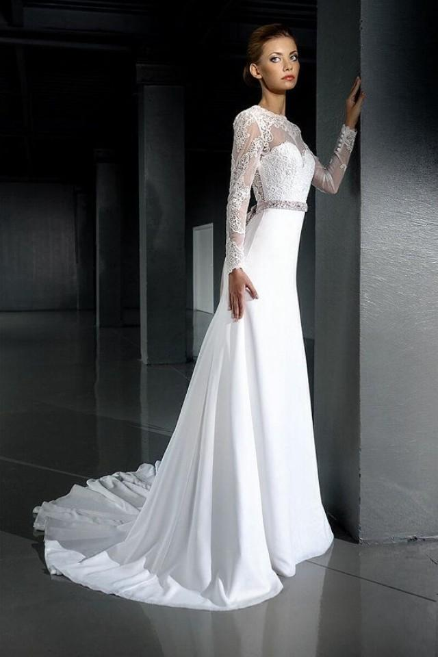 Open back wedding wedding dress long sleeve for Slimming undergarments for wedding dress