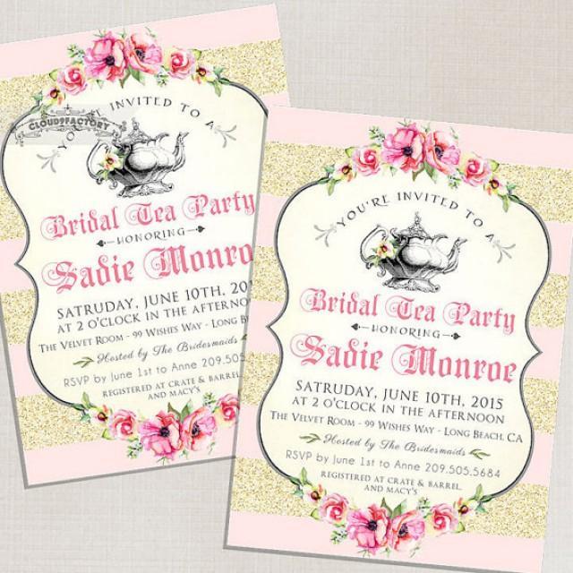 high tea invitations free printable