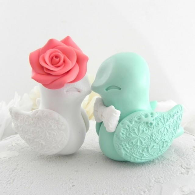 Mint Wedding Cake Topper