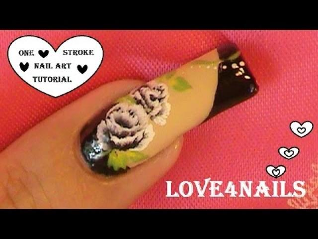 Hochzeits Nail Designs Black Roses Nail Art Design Tutorial