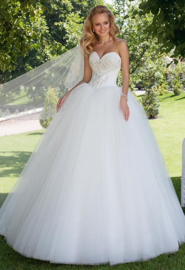 Hot selling 2015 new oksana mukha sexy sweetheart for Ball gown wedding dresses strapless sweetheart