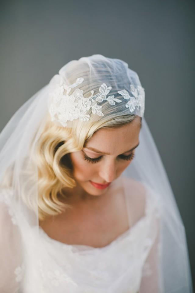 Lace Wedding Veil Juliet Cap Bridal Corded Kate Moss Ivory Cathedral 1920 S 1550 2285139 Weddbook