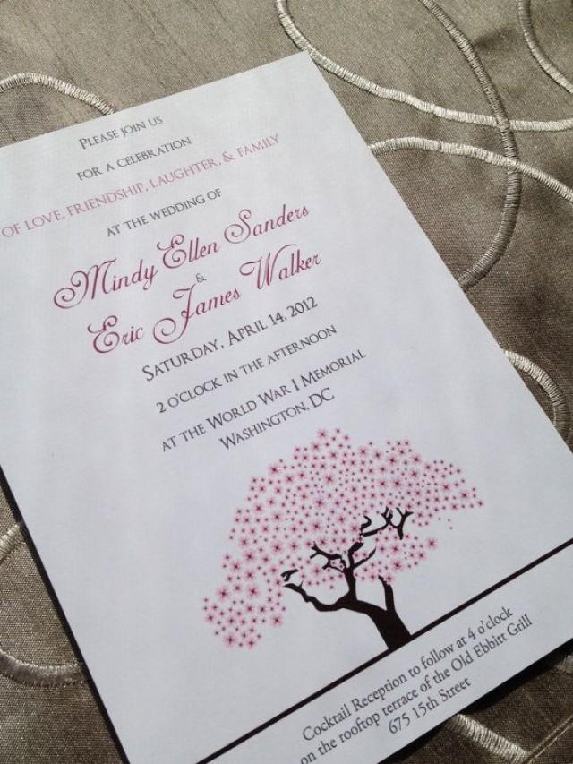 Cherry Blossoms Wedding - Cherry Blossom Tree Wedding Invitation ...