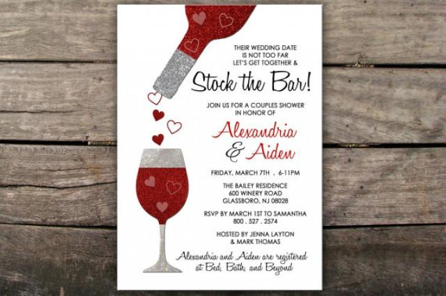 stock the bar invitation couples shower invitation engagement party