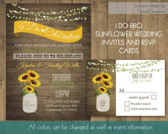 Mason jar i do bbq wedding reception invitation 2285901 weddbook solutioingenieria Image collections