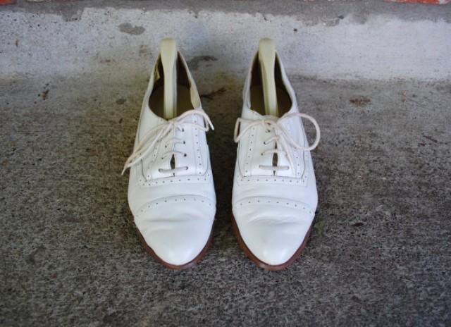 Vintage Womens Size 7 5 Snap By Calico Lace Up Oxfords Oxford