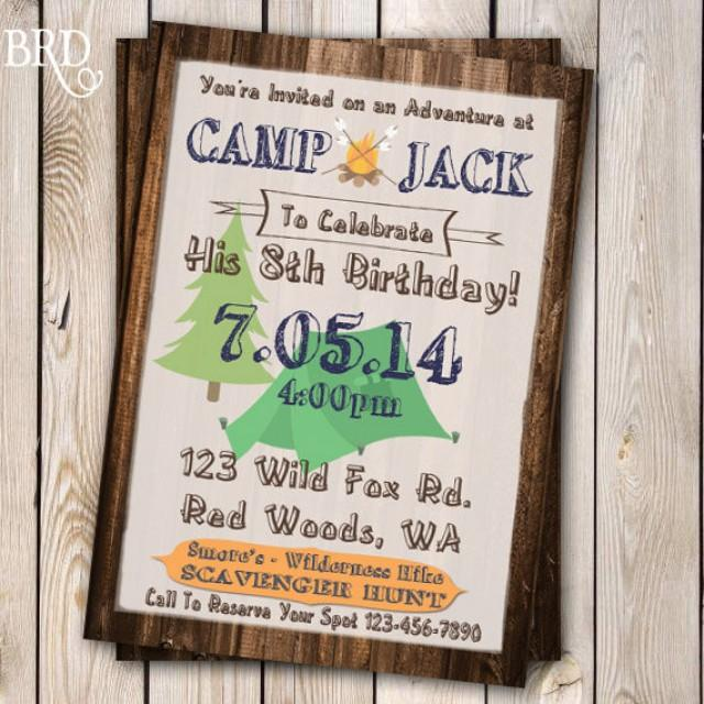 camping invitation campout party invitation campout birthday wilderness party bachelor party invitation 5x7 printable 2288102 weddbook - Camping Party Invitations