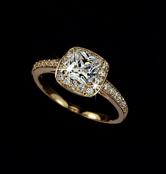 Square Cut Engagement Rings Australia