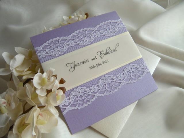 rustic wedding invitation lace wedding invitation gold wedding invitation purple invitation 2290038 weddbook - Purple And Gold Wedding Invitations
