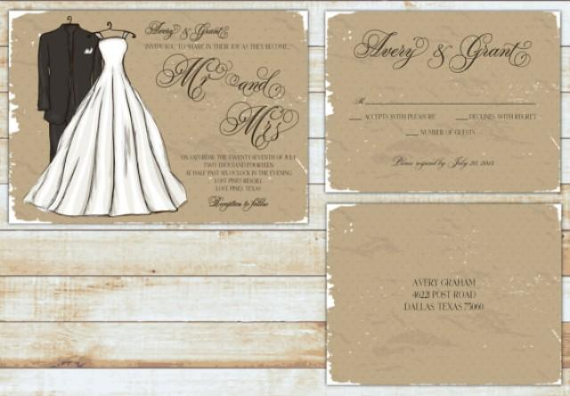 Mr And Mrs Wedding Invitation Wording: PRINTABLE Wedding Invitation Suite DIY