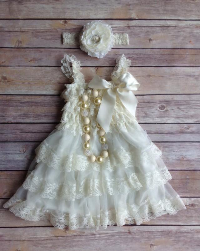 Cream Toddler Dress