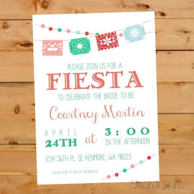 Mexican Bridal Shower Invitation Fiesta Bridal Shower Invite
