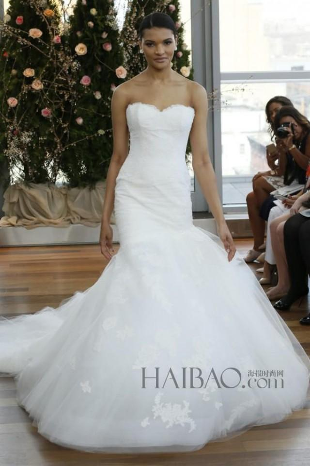 Charming 2015 isabelle armstrong wedding dresses mermaid for Wedding dress discount warehouse