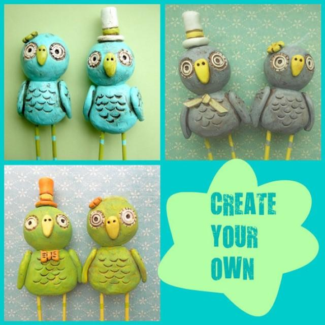Make Your Own Wedding Topper: Create Your Own Owls Wedding Cake Topper