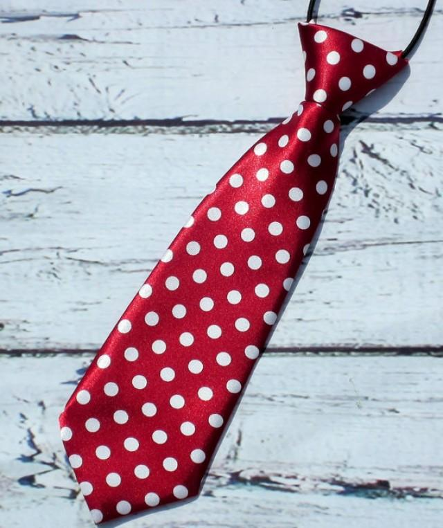 78ff99b2b3f1 Crimson Red Polka Dot Neck Tie Baby Neck Tie Boys Neck Tie Infant ...