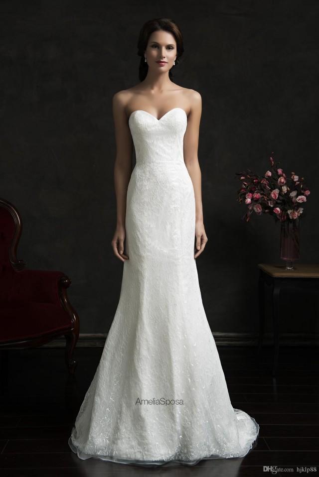 Bright Simple Style Sleeveless Wedding Dresses 2015 Amelia