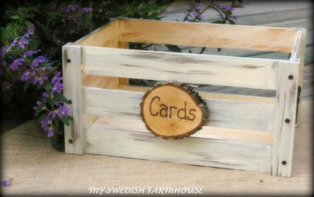 Wedding Card Box Program Crate Rustic Winter Decor Your Color Choice 2294199 Weddbook