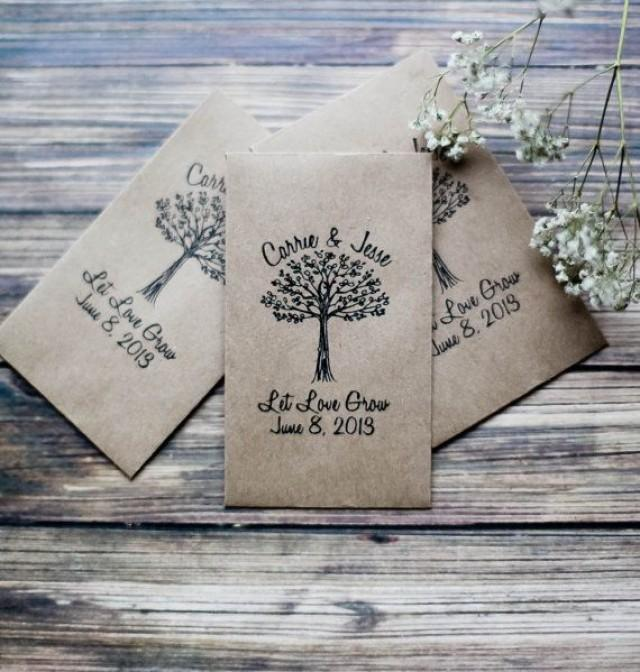100 Customized Eco Friendly Let Love Grow Wedding Seed Favor Envelopes 2294339 Weddbook