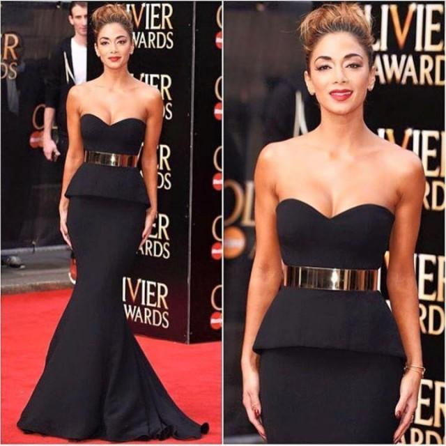 2015 Black Mermaid Evening Dresses With Sash Sweetheart Celebrity ...