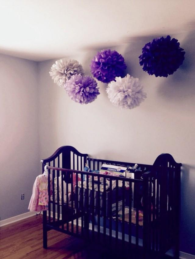 5 Nursery Pompoms Hanging Tissue Paper Flower Room Decor Wall Party Poms Baby Mobile Decorations Free Shipping 2294686 Weddbook
