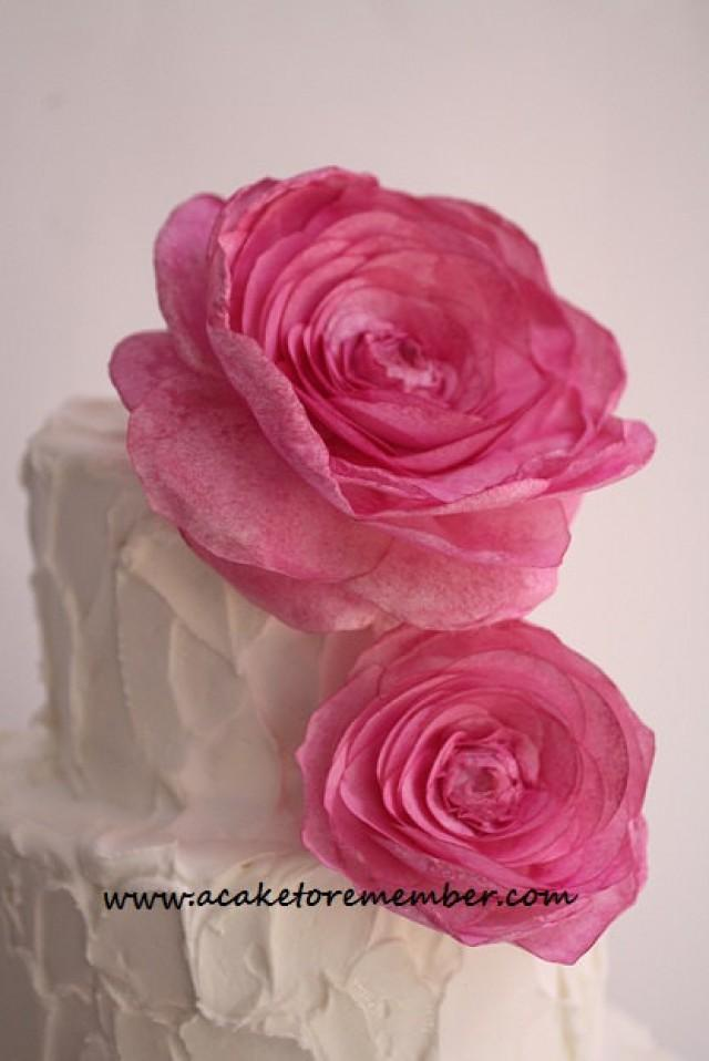 Cake Decorating With Edible Paper : Wafer Paper Flower For Cake Decorating, Wedding Cake ...