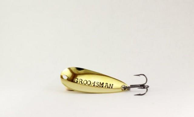 groomsmen gift best man lure custom fishing lure gifts for