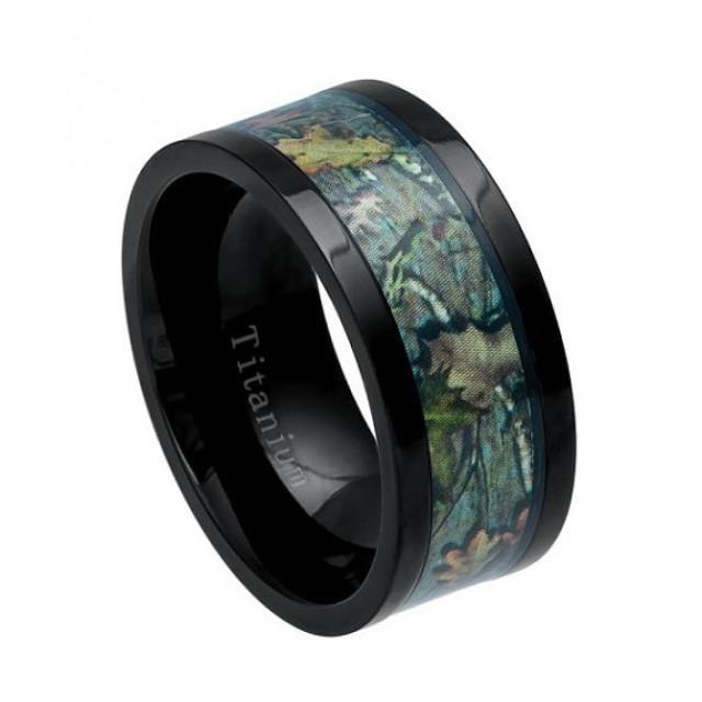 Cool Mens Gift Titanium Ring Mens Wedding Ring Camo