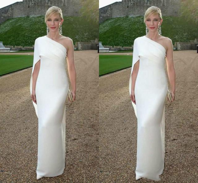 Celebrity Wedding Login: 2015 Simple One Shoulder Evening Dress With Pleated Cheap