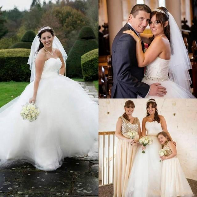 Cheap Plus Size Ball Gown Wedding Dresses: Plus Size Tulle Ball Gown Wedding Dresses Sweep Length