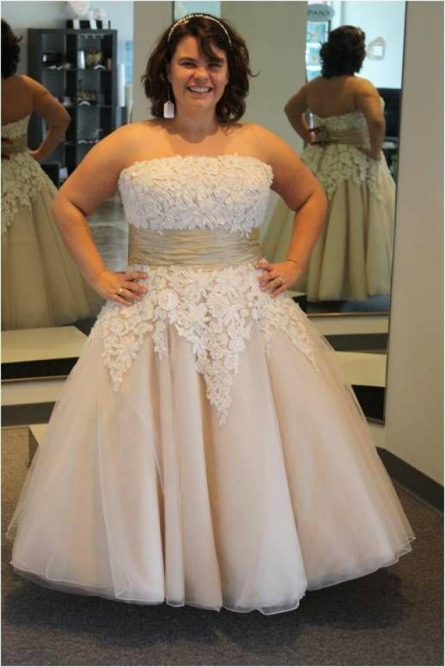 Plus size short wedding dresses beach 2015 tea length for Wedding dress plus size cheap