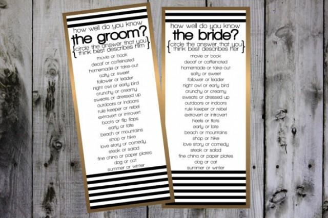 How Well Do You Know The Bride And Groom #2295830