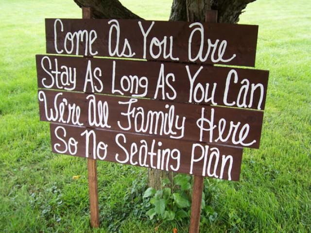 Wedding Signs Come As You Are Huge Rustic Wooden Beach