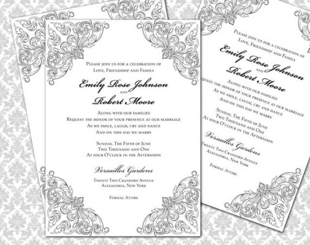 diy wedding invitation printable template 5x7 invitation 2295980 weddbook. Black Bedroom Furniture Sets. Home Design Ideas