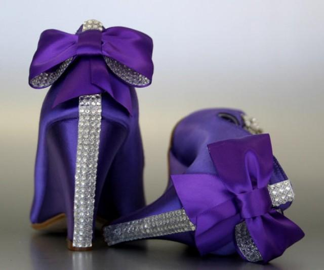 Silver Bow Wedding Shoes