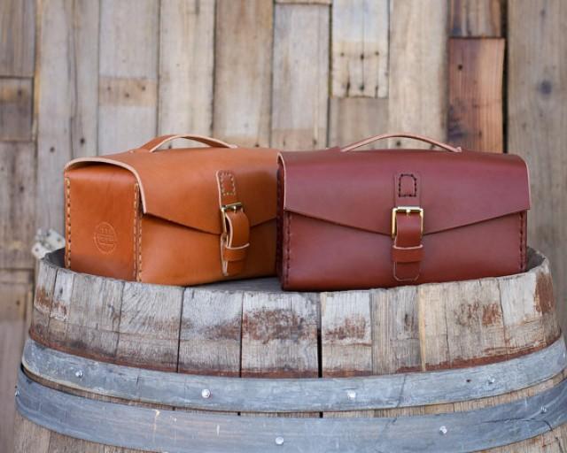 HANDMADE In The USA Mens Shaving Bag Fine LEATHER Goods